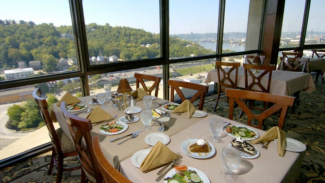 The 360 Revolving Restaurant at the Covington Radisson has a panoramic view to go with their $70 buffet.