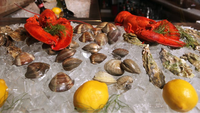 The raw bar is photographed at Antoine McGuire's Oyster & Ale House, owned by chef Anthony Accomando and Peter McGuire, in Haverstraw on June 1, 2012. ( Xavier Mascareñas / The Journal News )