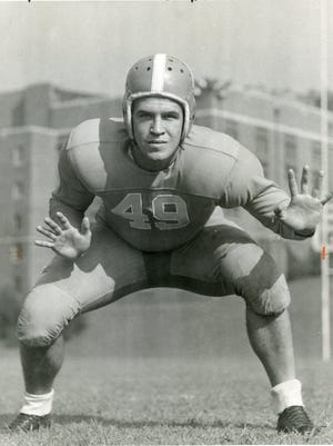 Rudy Klarer's number, 49, was worn decades later by Kelly Ziegler, but was retired after the 1988 Peach Bowl. Klarer died in Europe in the first week of 1945.