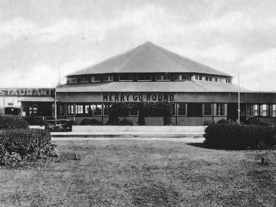 The carousel at Red Bank, circa 1920.