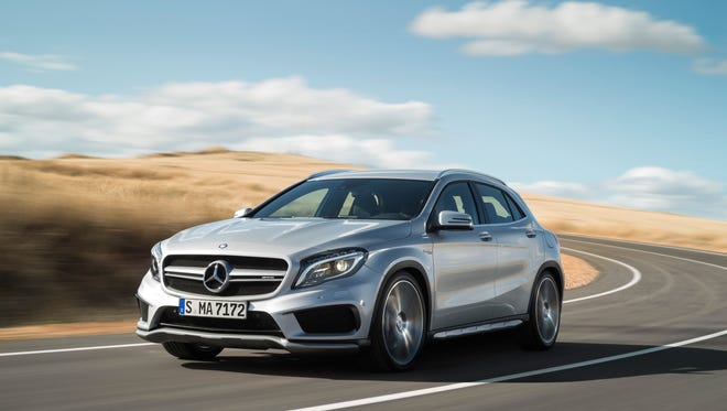 The 2015 Mercedes-Benz GLA 45 AMG is rated 23 mpg city, 29 mpg highway.