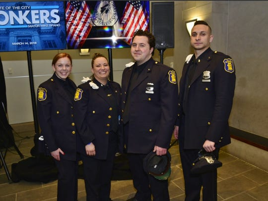 (left to right) Yonkers Detective Kayla Maher, Officer