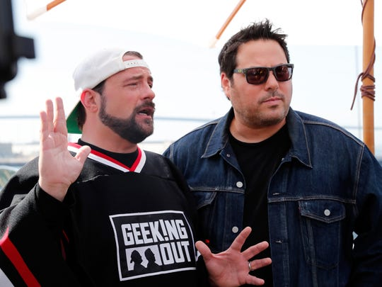 Kevin Smith (left) and Greg Grunberg in July 2016 in San Diego.