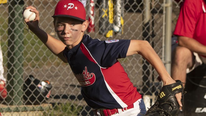 John Mass of the Portsmouth Little League all-star team throws out a runner during a 2018 game. The Portsmouth Little League announced it will begin its season June 15.