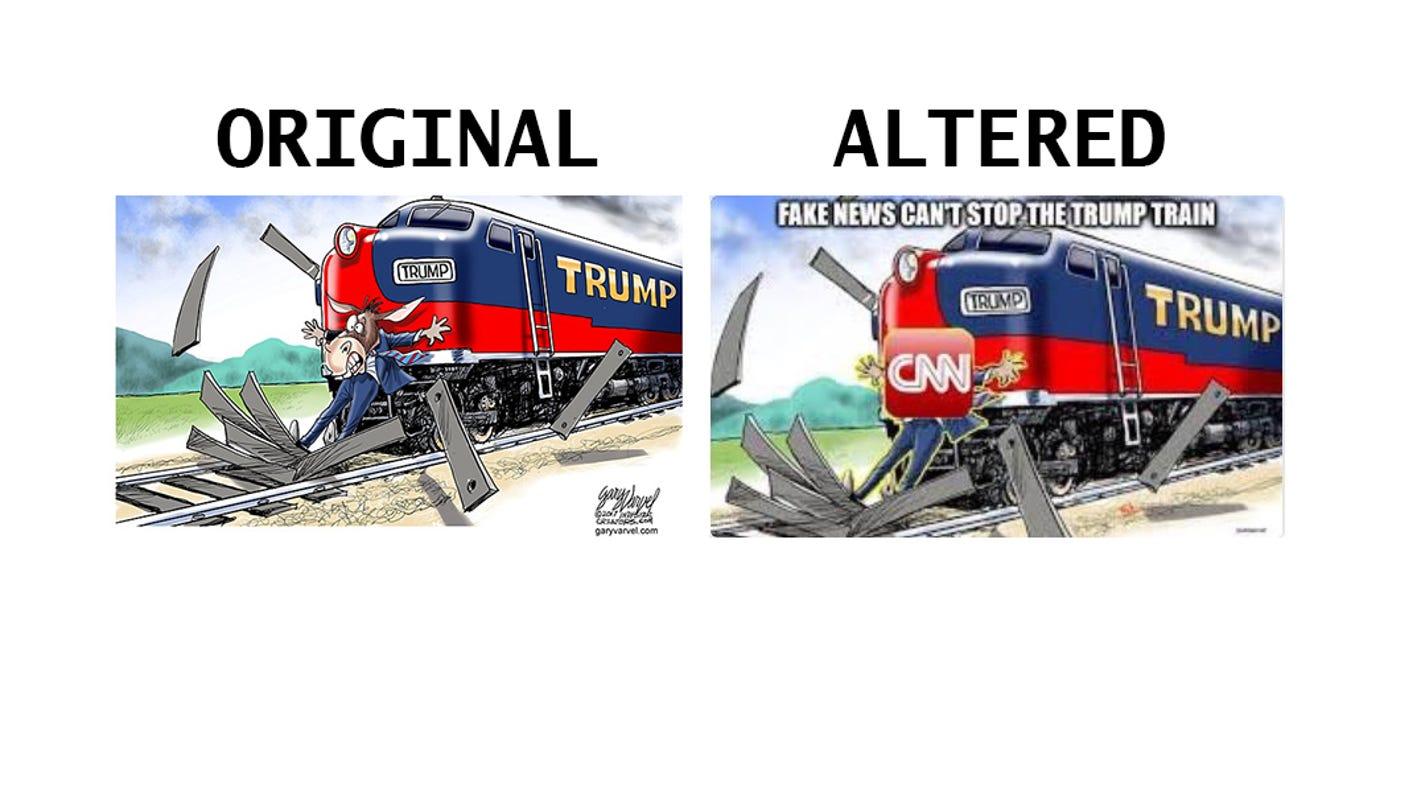 President Donald Trump retweets altered IndyStar cartoon