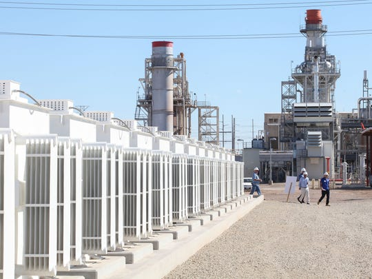 A 140-megawatt natural gas-fired power plants looms