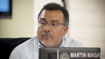This Desert Sun file photo shows Desert Hot Springs City Manaer Martin Magana. The city announced he's submitted his resignation and will be effective July 21.