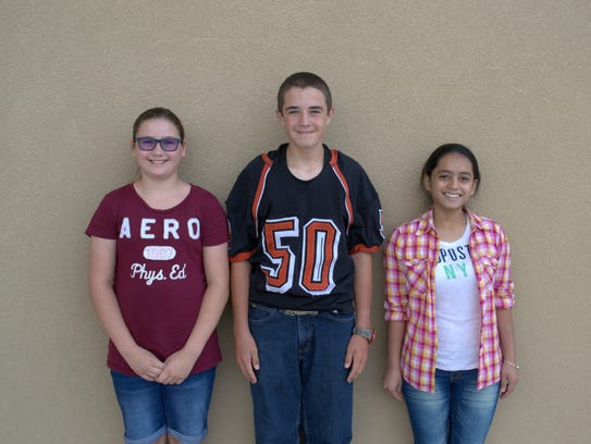 Capitan Middle School Students of the Month. Pictured,