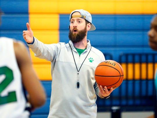 LEAD Academy head coach Matt Barksdale gives instruction