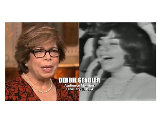"""Debbie Gendler is show in this screengrab from television and on the 1964 """"Ed Sullivan Show"""" Beatles performance."""