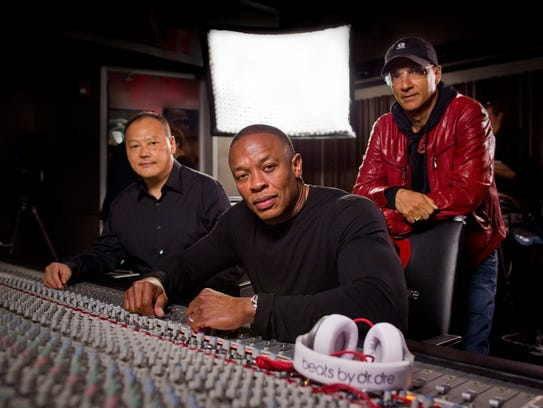 Peter Chou, Dr. Dre and Jimmy Iovine announce the strategic