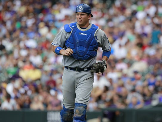 Los Angeles Dodgers catcher A.J. Ellis is one of three