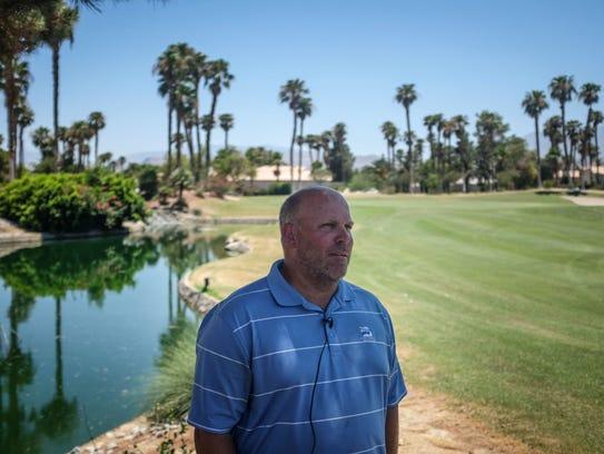Jonas Conlan, the golf course superintendent at Desert