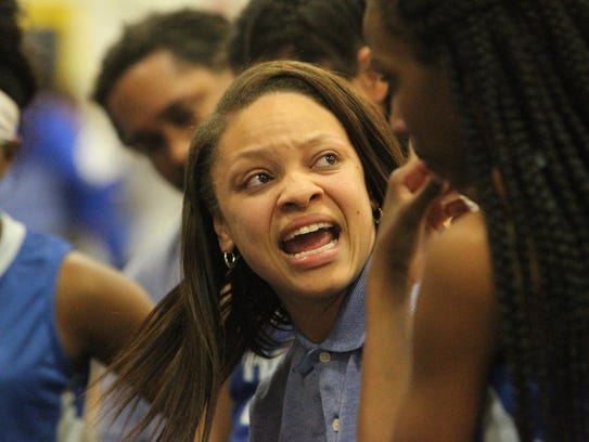 Godby girls basketball coach chelsea johnson gets onto her team during