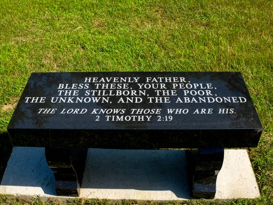 A bench donated by Sparrow Hospital marks the spot