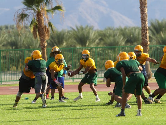 Coachella Valley High School football team prepares