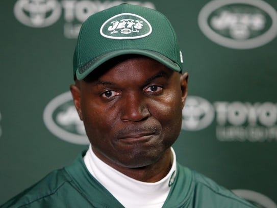 New York Jets head coach Todd Bowles responds to questions