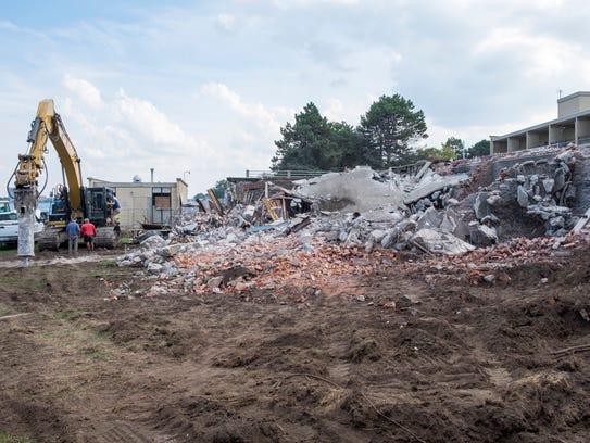 Progress on the demolition of Port Huron's scenic overlook