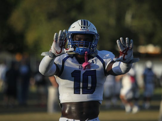 Godby safety Cortez Andrews gets hyped up before Friday