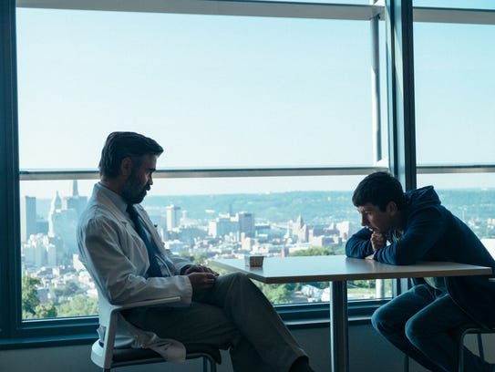 "Steven (Colin Farrell, left) and Mike (Barry Keoghan) have an unusual — perhaps terrifying —relationship in ""The Killing of a Sacred Deer."""