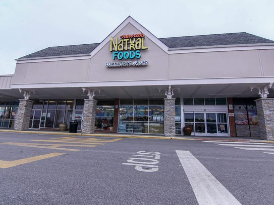 Exterior of Newark Natural Foods during the inaugural