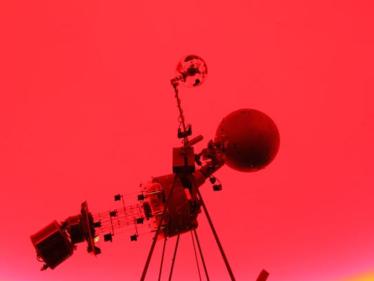 The projector at the Coshocton High School planetarium