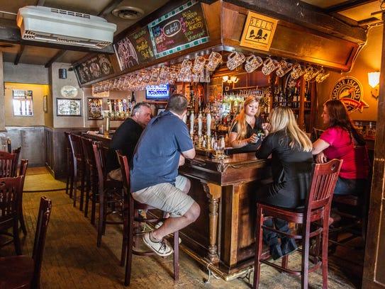Corner Wine Bar's distinctive spaces include The Wellington