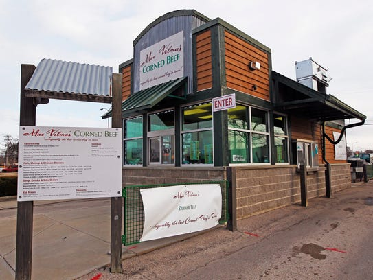 Mae Velma's Corned Beef has a drive-through and walk-up