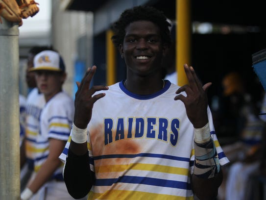 Rickards' Rohan Wright gets excited for the camera