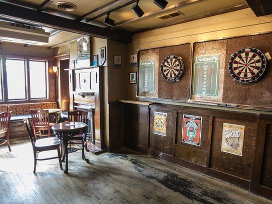 Corner Wine Bar's distinctive spaces include darts