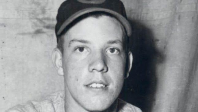 Joe Nuxhall in 1944 with the Cincinnati Reds.