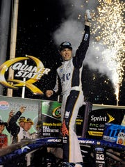 Brad Keselowski led 199 of 267 laps for his second win at Kentucky Speedway in three years Saturday night.