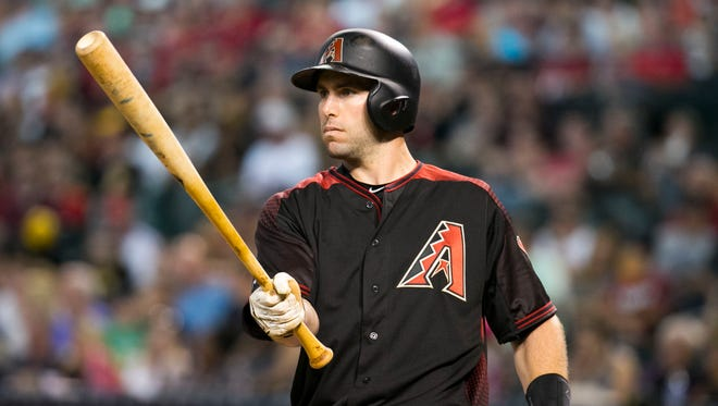 Diamondbacks slugger Paul Goldschmidt warms up before an at-bat against the Pirates during first inning at Chase Field in Phoenix on Saturday, April 23, 2016.