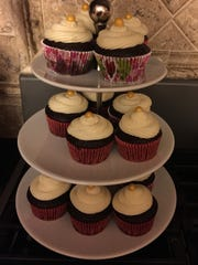 A sample of A'mari Wells' cupcakes. The 10-year-old Goodyear girl launched her own business, Drive Me Cakey, this year.