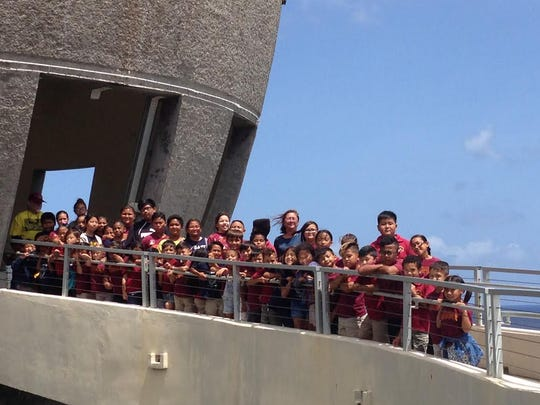 On May 11, the G.A.T.E. students of Capt. H.B. Price School toured the Latte of Freedom. The students also visited University of Guam's Isla Center for the Arts and the Pacific War Museum in Adelup. Pictured standing against the railing from left: Dante Calve, Liam Laguana, Samara Bongato, Sierra Grino, Giovani Taitano, Lauryn Taitano, Sophia Nangauta, Vayla Gumabon, Xander Yano, Michael Clement, Sinahi King, MollySky Dahilig, Drady Cruz, Cyan Sablan, Taga Blas, Jaden Laniyo, Ripken Hobson, Ava Grace San Nicolas, Abigail Lopez, Savian Sablan, Angelo Barcinas II, Slade De Gracia, Reggie Sepety, Raiden Hobson, Avery Barcinas, and Anya Fernandez. Pictured standing from left: Rich Fischer, chaperone; Felix Ulloa,  Auriana Hobson, Daesha Ungacta, Ana Jae Paulino Jasmine Yoo, Natalie Alicto, Amaya Aguon, Charsey Taitano, Felicita Pangelinan (partially hidden),Chloe Martinez, Kenjie Dino, Damien Fernandez, Ivan Japitana, Irie Quitugua, Alana Cruz, Robert OÕBrien, Hayes Ungacta (partially hidden) Seth Lisua, Mario Murphy (partially hidden), Brenda Reyes, parent chaperone; Cameron Toves, Vivian Wen, Taelor Mafnas(partially hidden),  Jerry Perez, and Haven Aguon. Not pictured Jieqin Yang, Misiah Murphy and Skyler Francisco.  Photo Submitted by: Vickie Loughran, G.A.T.E. teacher, Capt. H.B. Price School