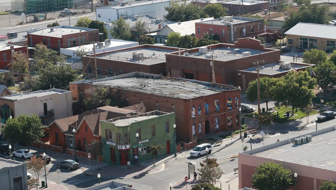 A view of the Duranguito neighborhood in Downtown's Union Plaza where the city plans to build the $180 million arena.