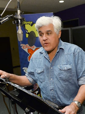 Jay Leno at work during a recording session for 'The 7D.'