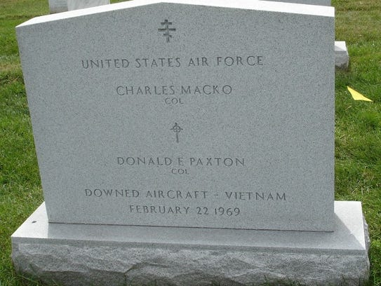 Col. Charles Macko was buried at Arlington Cemetery.