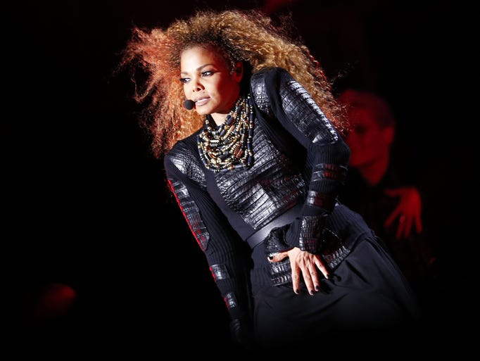 She's BACK! Janet Jackson performs during the Dubai