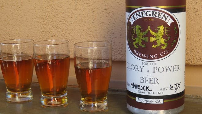 Enegren Brewing Co.'s maibock took first place in the fourth annual Best in Fest Brewery Competition organized as part of the Casa Pacifica Angels Wine, Food & Brew Festival. Made in the style of a traditional springtime beer in Germany, the brew made in Moorpark will be paired to one of seven courses during the festival's Yummie Top Chef Dinner on June 2.