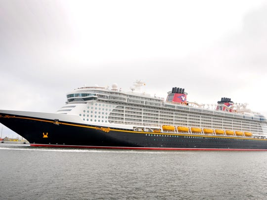 The Disney Fantasy arrives in port late Saturday morning,