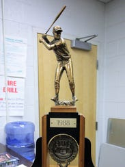 The 1988 state championship trophy was recently dusted