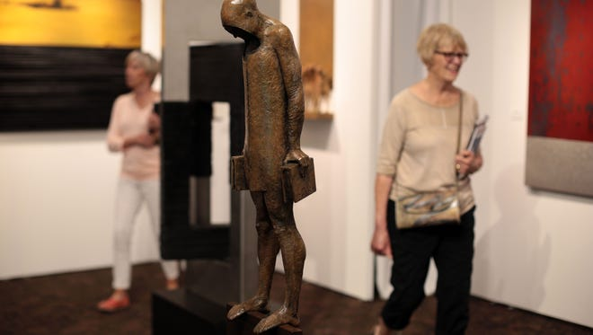 A bronze by Max Leiva at the Palm Springs Fine Art Fair at the Palm Springs Convention Center on Friday, February 12, 2016.