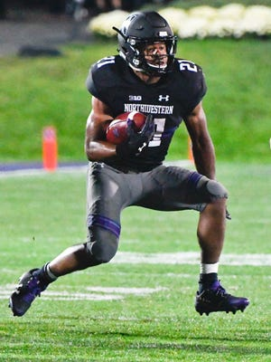 Northwestern running back Justin Jackson ran 18 times for 121 yards against Bowling Green.