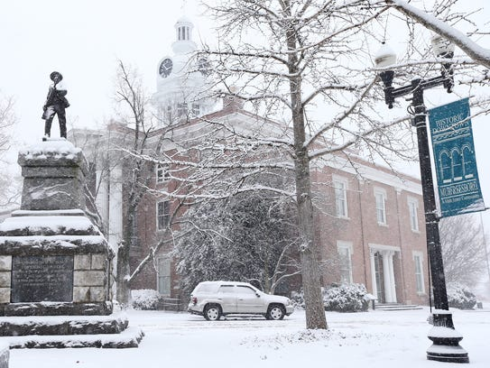 The Rutherford County Courthouse in Murfreesboro is