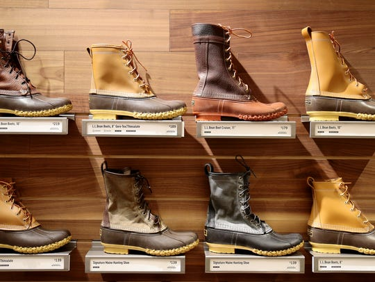 A selection of L.L. Bean's signature Bean Boots at