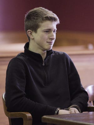 Brendan James Sibel sits in court during his hearing on March 8. Rash of school threats by mostly high school students have law enforcement and school officials taking a zero-tolerance approach to the mischief and sometimes serious student pranks.