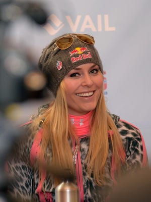 Lindsey Vonn, out with a knee injury since February, said via Facebook that she's back on the snow. Vonn had returned but tweaked a knee a week ago.