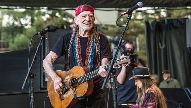 Willie Nelson performs at the 30th annual Bridge School Benefit Concert on Oct. 23, 2016, at the Shoreline Amphitheater in Mountain View, Calif.