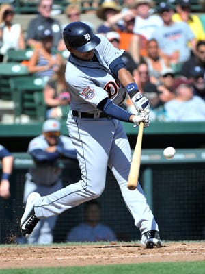 Dixon Machado is batting .366 with an .815 OPS in 10 games  with Triple A Toledo.